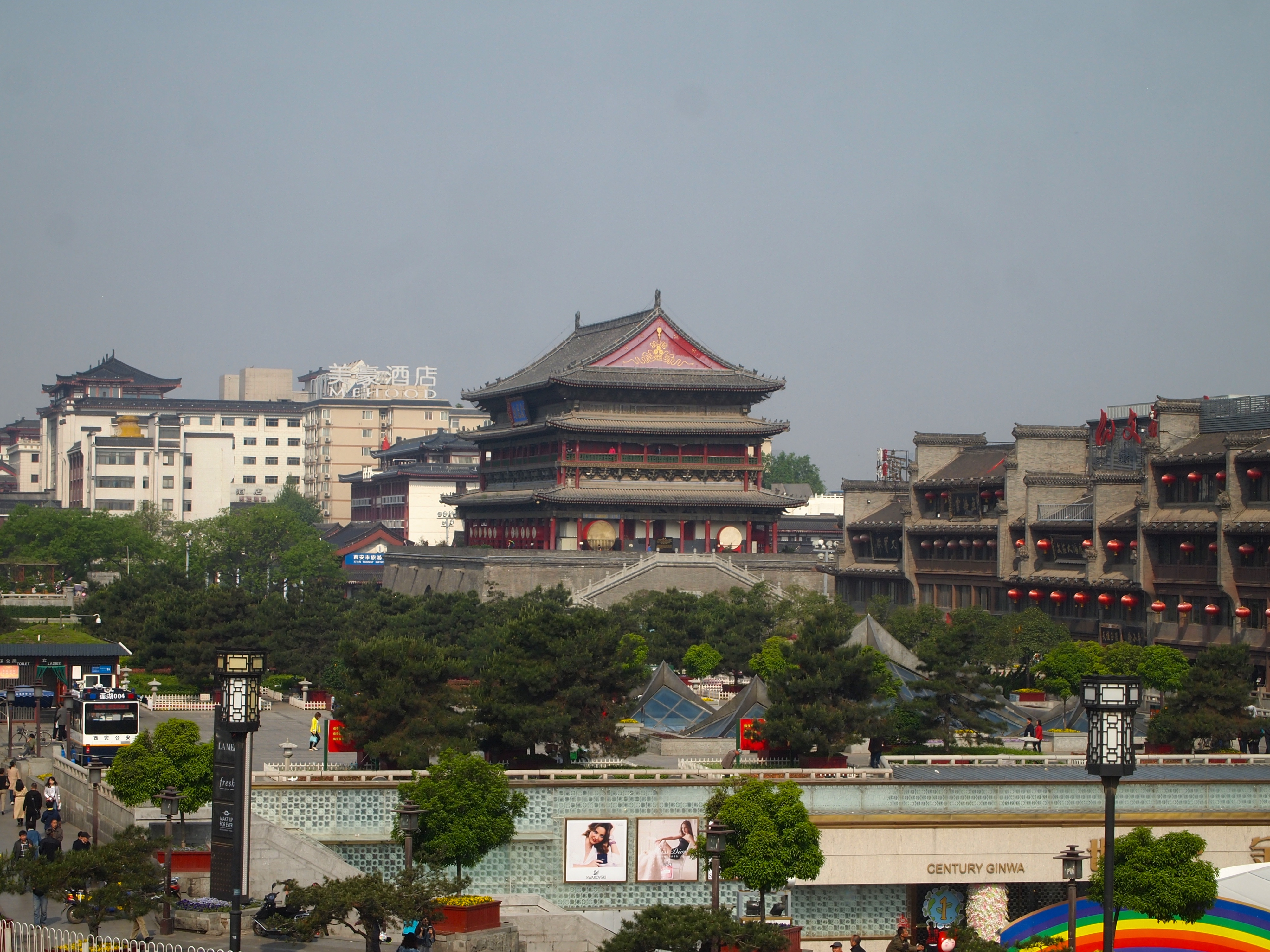 7 Days Inn Xian Bell Tower Brach The Bell Tower The Drum Tower In Xian China Diaries