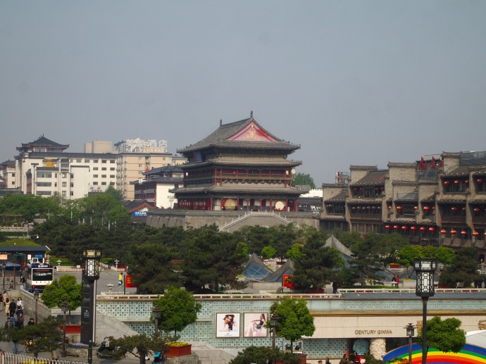 Looking west to the Drum Tower