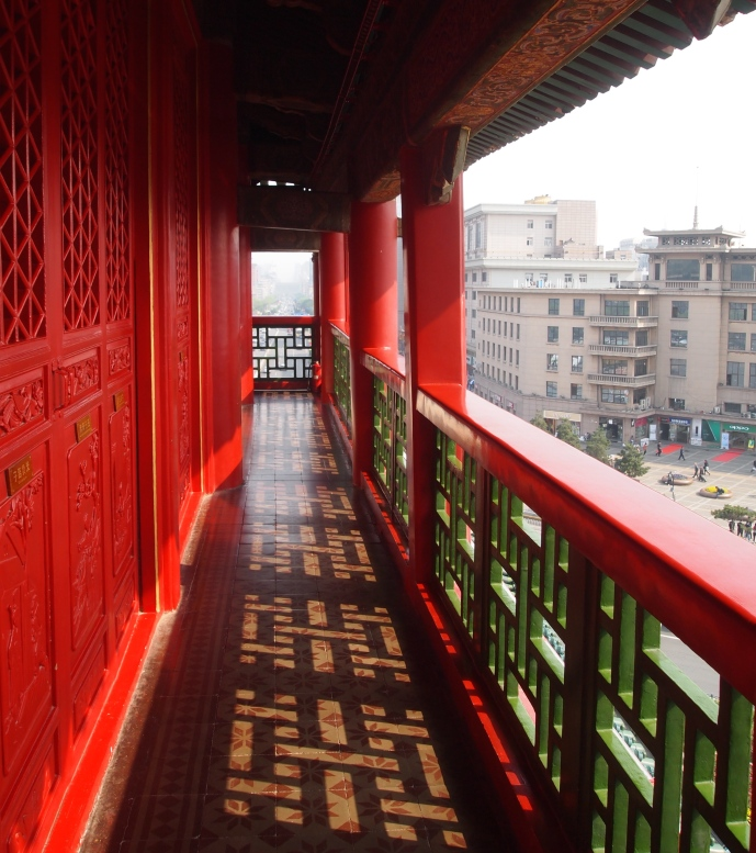 walkway on the perimeter of the Bell Tower