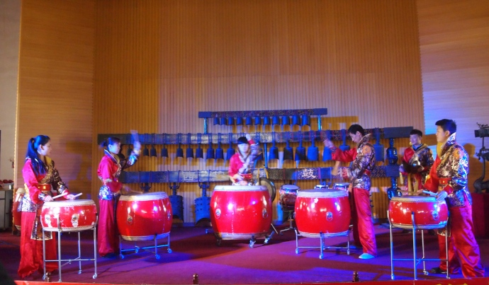 A drum performance