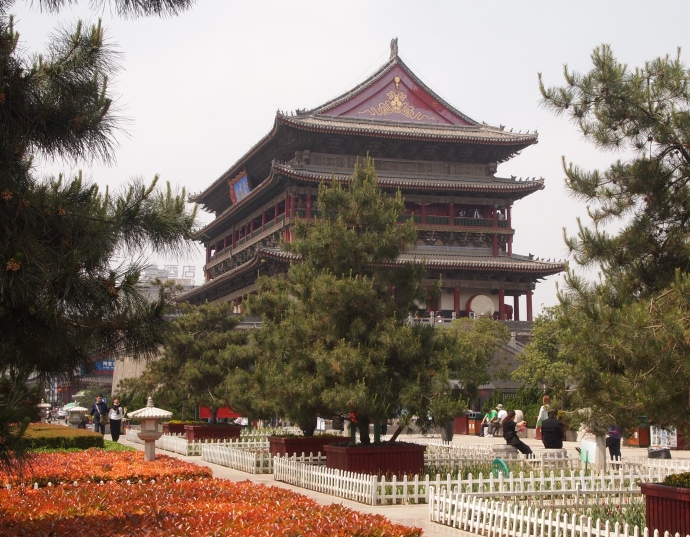 the Drum Tower in daylight