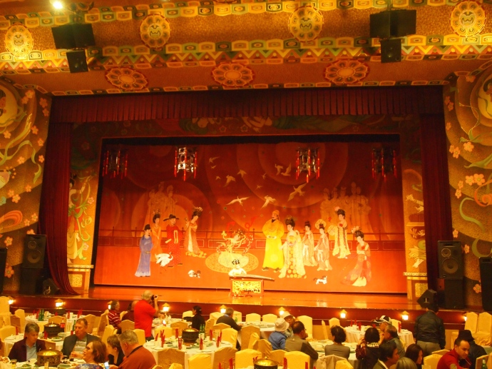 The stage at the Tang Palace Dance Show before the show
