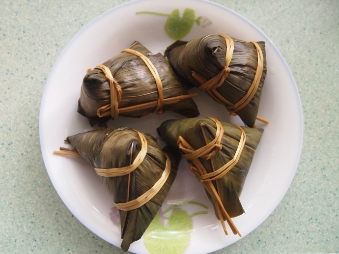 Zongzi all wrapped up