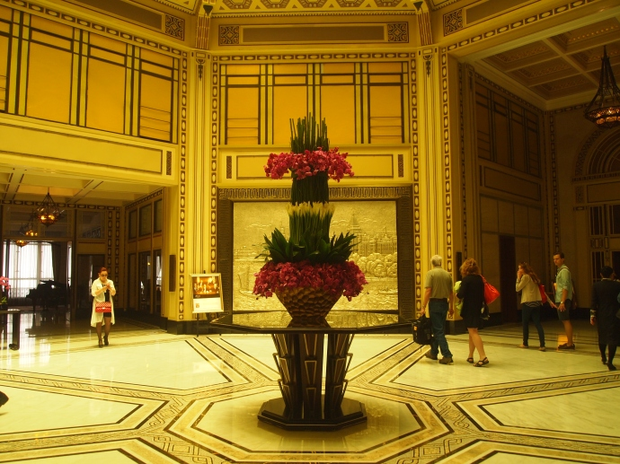 Lobby of the Peace Hotel