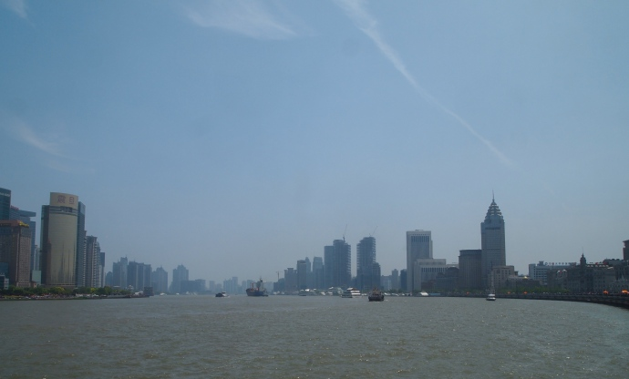 Looking south down the Huangpu River