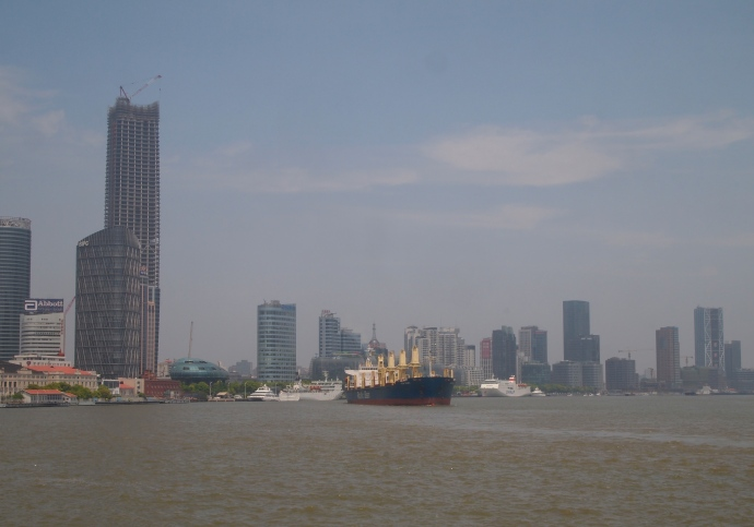 Looking northeast down the Huangpu River