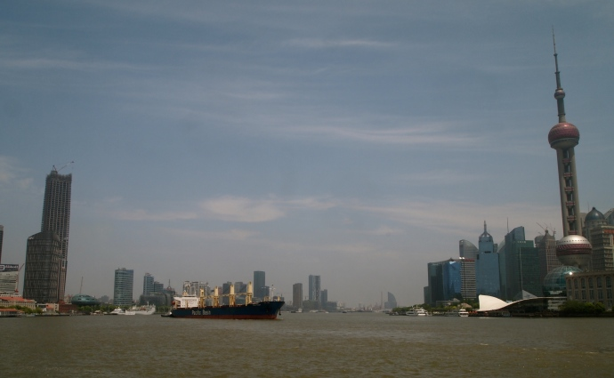 Ship traffic on the Huangpu River