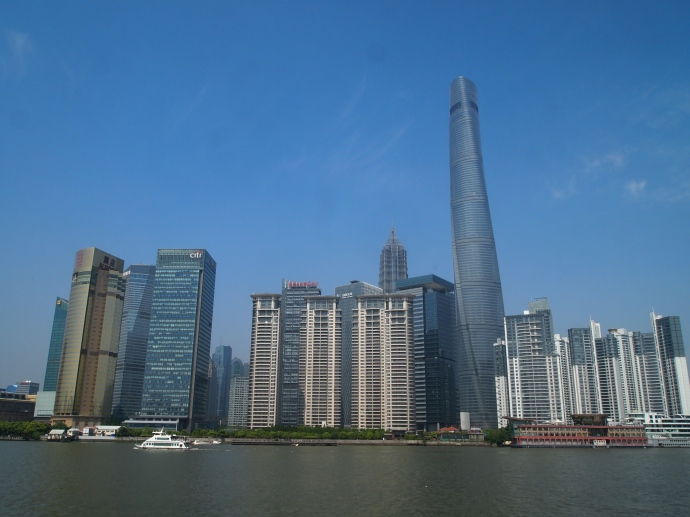 Pudong as seen from the Huangpu River