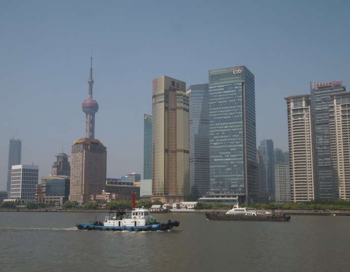 Oriental Pearl TV Tower and  the Pudong skyline