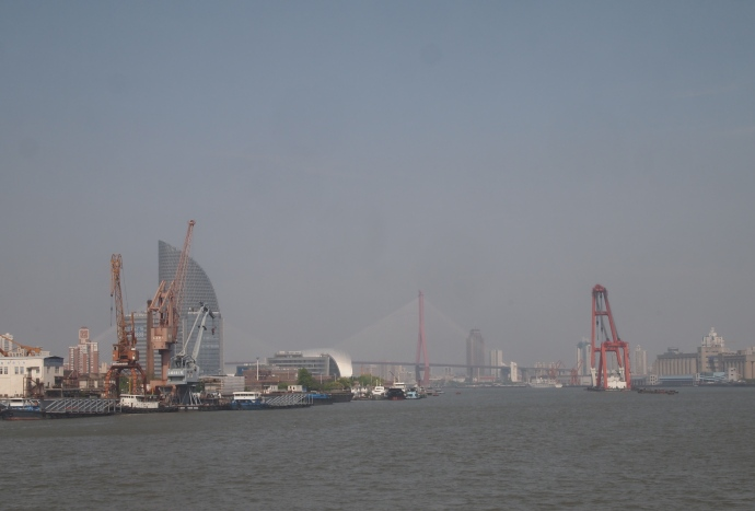 Looking northeast along the Huangpu River