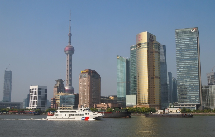 Pudong and boats