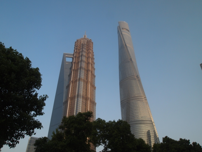 on the Pudong side of the Huangpu River