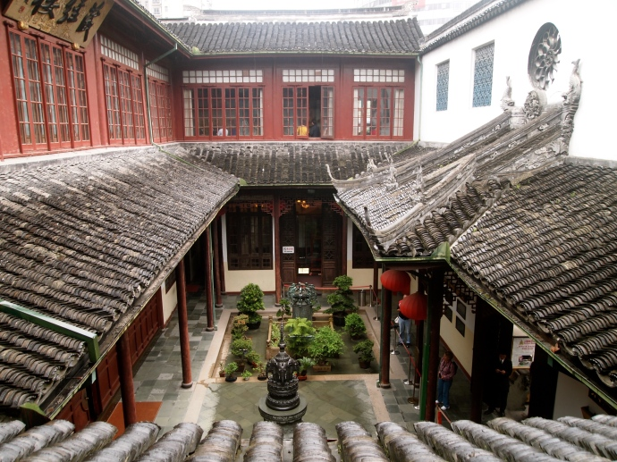 courtyard at Yufo Si