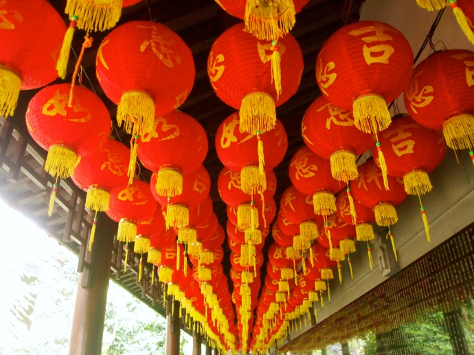 Lanterns at Yufo Si