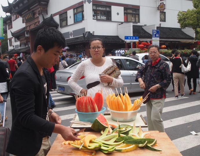 street vendor on Fuyou Road
