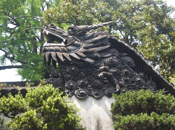 Dragon head on the gate