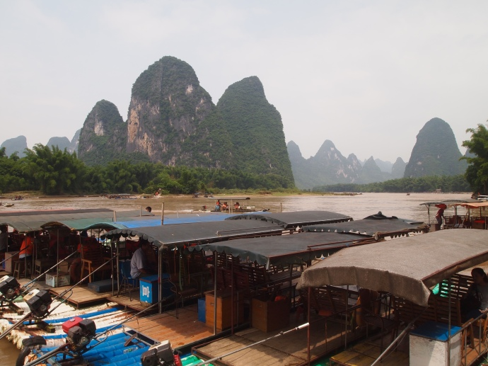 The boat dock at Xingping on the Li River