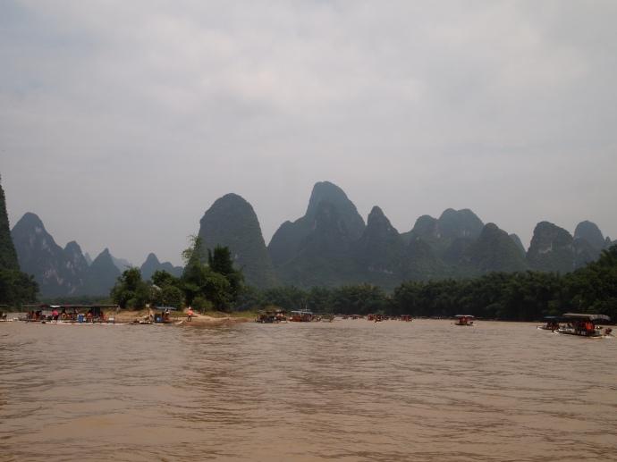 Heading up the Li River