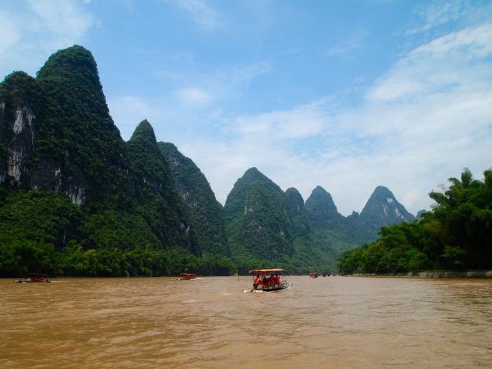 karst landscape along the Li River