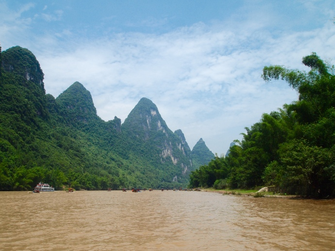 karst landscape along the Li River
