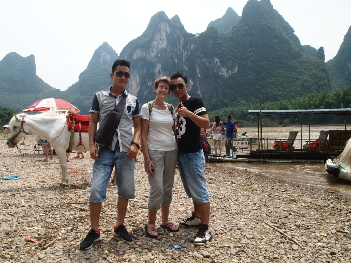 Erica and our two Chinese boat mates