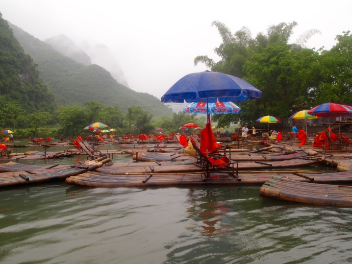 bamboo raft central on the yulong river