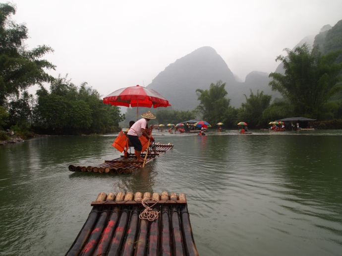Our raft on the Yulong River