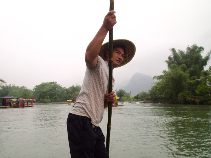 our bamboo boat captain