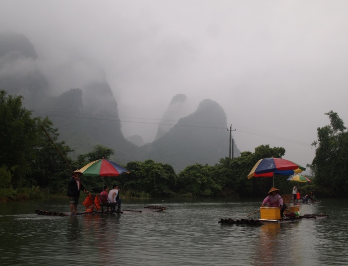 karst landscape on the Yulong River