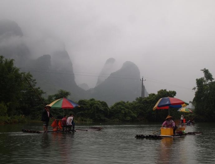 karst landscape on the Yulong River