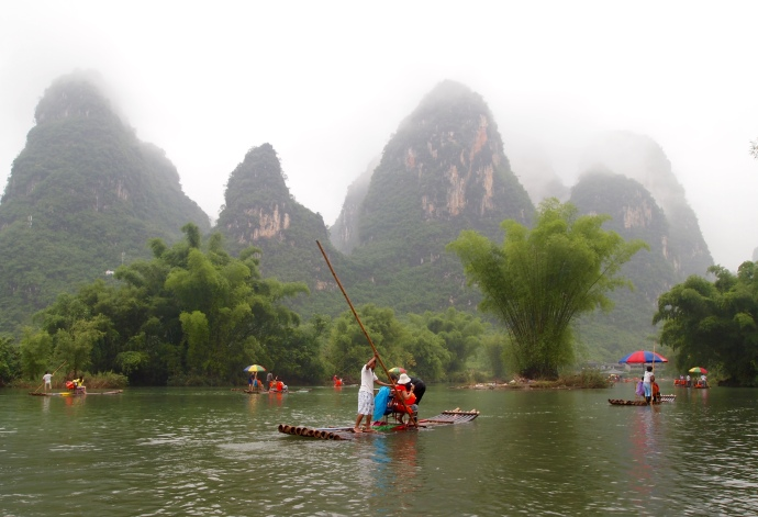 rafting down the Yulong