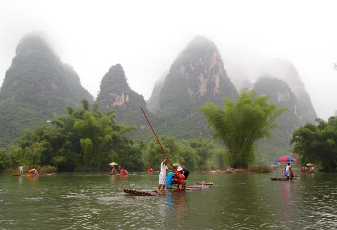 rafting down the Yulong