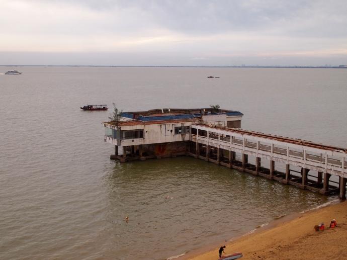 View of Beibu Gulf from Mari's apartment balcony