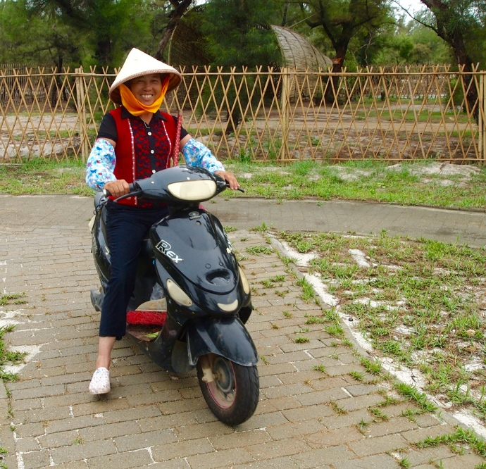 motorbike lady