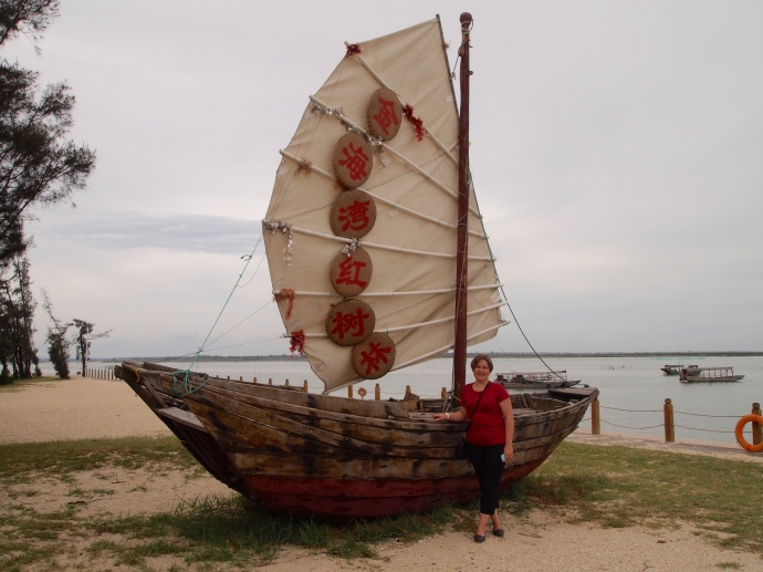 Mari and the boat