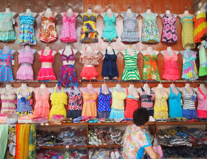 bathing suits for sale, in case you forgot yours. :-)