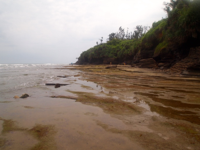 looking east at Multicolored Beach