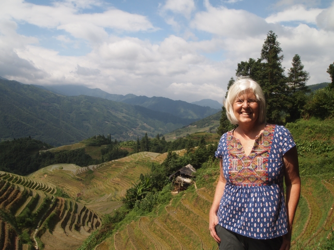 Me at the rice terraces on my hike