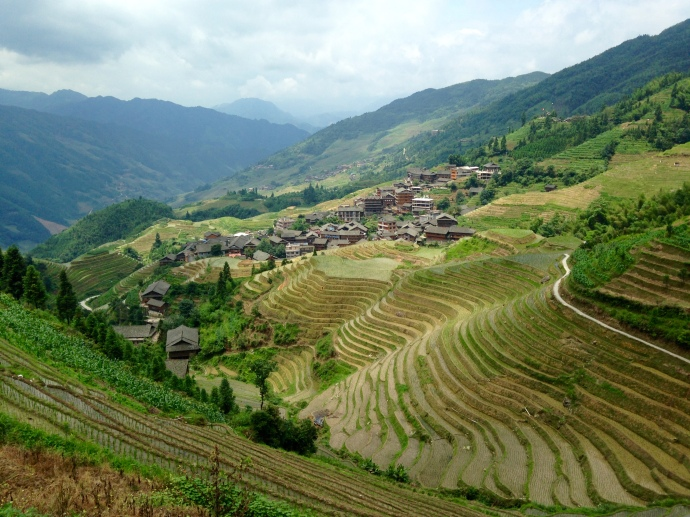 view of Ping'An from the terraces