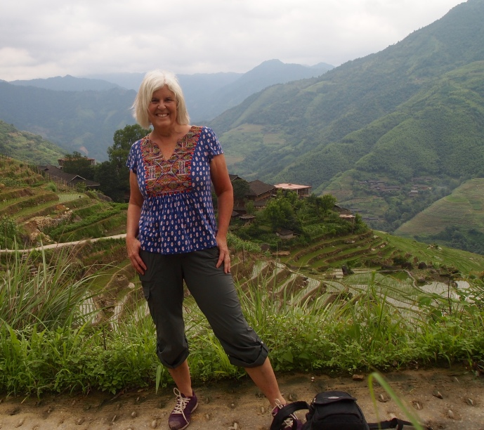 self portrait at the Longji Rice Terraces