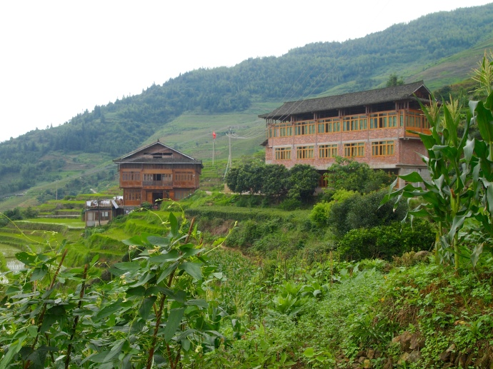 the outskirts of Longji Ancient Zhuang Village