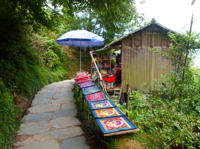 vendors along the path